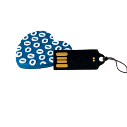 Blue heart flash drive 16 Gb