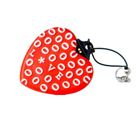 Red heart Usb flash pendrive 16 gb